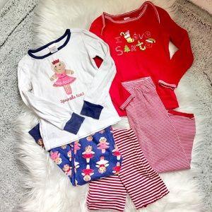 2 Sets Christmas Pajamas plus extra PJ bottom